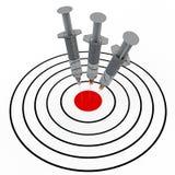 Spritze und Ziel Stockbilder