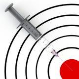 Spritze und Ziel Stockfoto