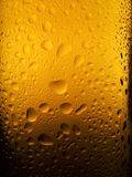 Spritzed Beer Bottle. Glass beer bottle, back-lit and spritzed with water Stock Photos