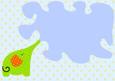 Spritzen der Elefant-Einladungs-Karte Stockfoto