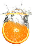 Spritzen der Orange Stockfotos