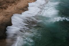 Spritzen der Wellen