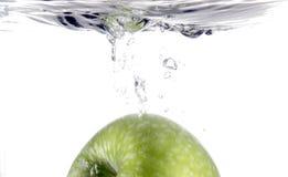 Spritzen des Apfels Lizenzfreies Stockfoto