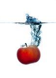 Spritzen des Apfels. Stockbild