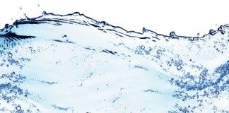 Spritzen des blauen Wassers Stockbilder