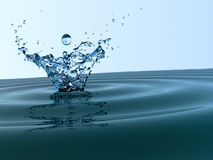 Spritzen des kühlen Wassers Lizenzfreie Stockfotografie