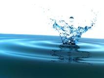 Spritzen des kühlen Wassers Stockbild