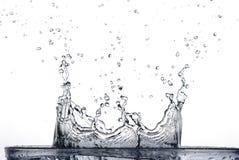Spritzen des Wassers Stockfotografie