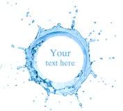 Spritzen des Wassers Lizenzfreie Stockfotos
