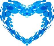 Spritzen des Wassers in Form von Herzen Lizenzfreies Stockfoto