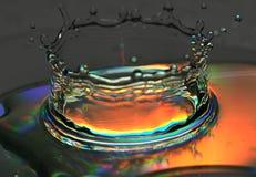 Spritzen des Wassers wird eingefroren Stockbild