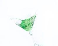 Spritzen in einem Glas Stockfoto