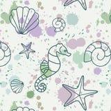 Spritzen-Shell-Muster Stockbilder