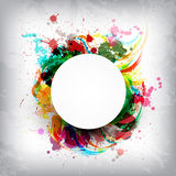 Spritzen von Farben Stockfotos