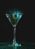 Spritzen von Martini Lizenzfreies Stockbild