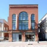 Spritzenhaus, Kirchen-Straßen-Markt, Burlington, Vermont Stockbild