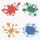 Spritzensatz Mehrfarbige Flecken Bunte Flecke Vektor vektor abbildung