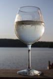 Spritzer för vitt vin Fotografering för Bildbyråer