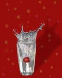Spritzt 2 auf Rot Stockfotografie