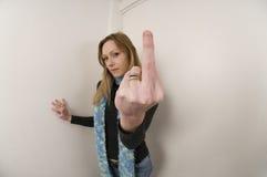 Sprośny gest Zdjęcia Royalty Free