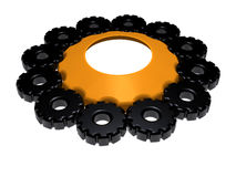 Sprocket - 3D. Illustration about technology - Sprocket - Gears - isolated - 3D Royalty Free Stock Photography