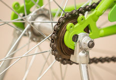 Sprocket bicycle. Sprocket  build in child bicycle Royalty Free Stock Photos