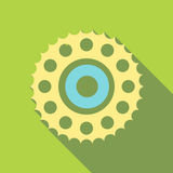 Sprocket for bicycle icon, flat style. Sprocket for bicycle icon. Flat illustration of sprocket for bicycle vector icon for web Royalty Free Stock Photos