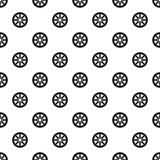 Sprocket for bicycle pattern, simple style. Sprocket for bicycle pattern. Simple illustration of sprocket for bicycle vector pattern for web Royalty Free Stock Photography