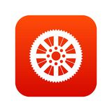 Sprocket from bike icon digital red Royalty Free Stock Image