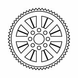 Sprocket from bike icon, outline style Royalty Free Stock Images