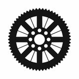 Sprocket from bike icon, simple style Stock Images