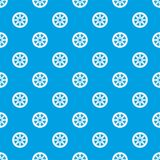 Sprocket from bike pattern seamless blue Royalty Free Stock Photos
