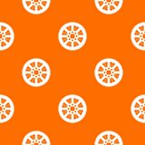 Sprocket from bike pattern seamless. Sprocket from bike pattern repeat seamless in orange color for any design. Vector geometric illustration Royalty Free Stock Photography