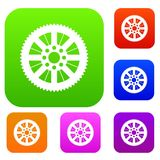 Sprocket from bike set collection. Sprocket from bike set icon in different colors isolated vector illustration. Premium collection Stock Image