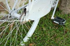 Sprocket of bikes parked at the park. Sprocket of bikes parked at the park Stock Photo