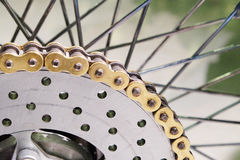 Sprocket with the chain Stock Image