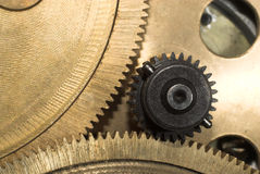 Sprocket close-up#3. Work several sprockets in composition of one mechanism royalty free stock photography
