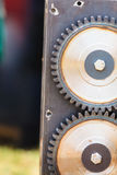 Sprocket gear made of steel, industrial object Royalty Free Stock Images