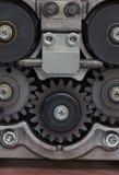 Sprocket metal gears closeup Stock Photo