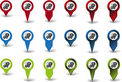 Sprocket pointers Stock Images