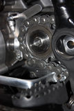 Sprocket Wheel with Chain Stock Image