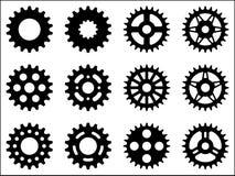 Sprocket wheel icons. Set of different sprocket wheels icons Stock Image