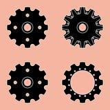 Sprocket wheel vector icon Royalty Free Stock Photography
