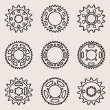 Sprocket wheel vector icons Royalty Free Stock Photography