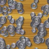 Sprockets seamless generated hires texture Royalty Free Stock Images