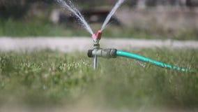 Sproeier die water castreren stock videobeelden