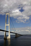 Sprogo Bridge. The Great Belt Fixed Link Bridge is a mix of suspension bridge and box girder bridge connecting the Danish Islands of Zealand and Funen. It is the Stock Photography