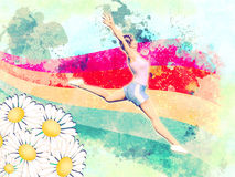 Sprong aan de zomer Stock Afbeeldingen