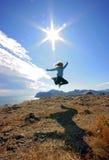 Sprong in de hemel Stock Foto's