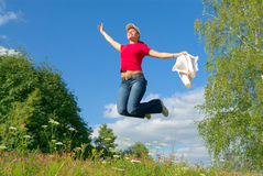 Sprong in de hemel (reeks) Royalty-vrije Stock Afbeelding